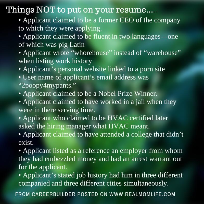 skills resume mistakes