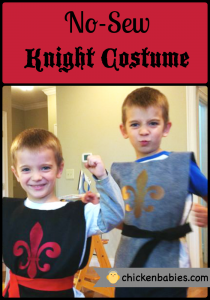 no sew knights costime