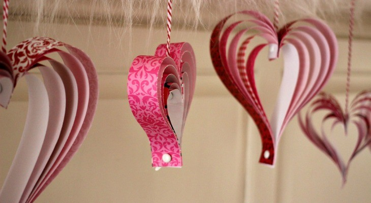 Valentines day Paper-Hearts