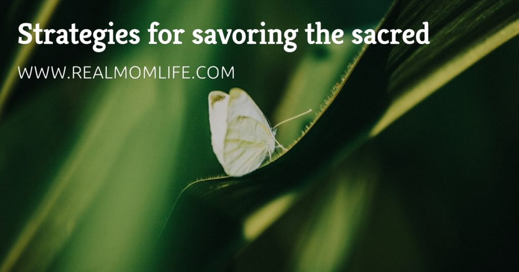 Strategies for Savoring the Sacred