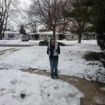 son with icicles