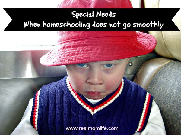 Special Needs: When Homeschooling Does Not Go Smoothly