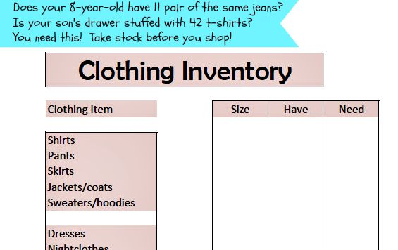 Clothing Organization: Take stock before you shop!