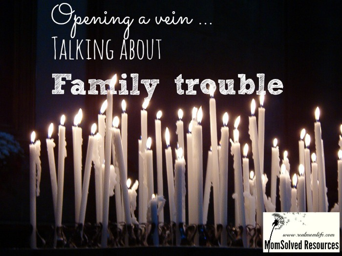talking about family trouble