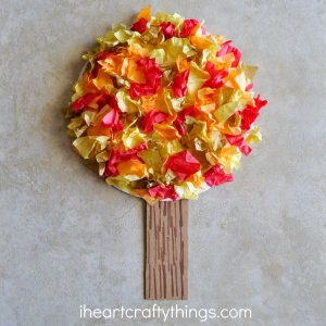 tissue paper-fall-craft