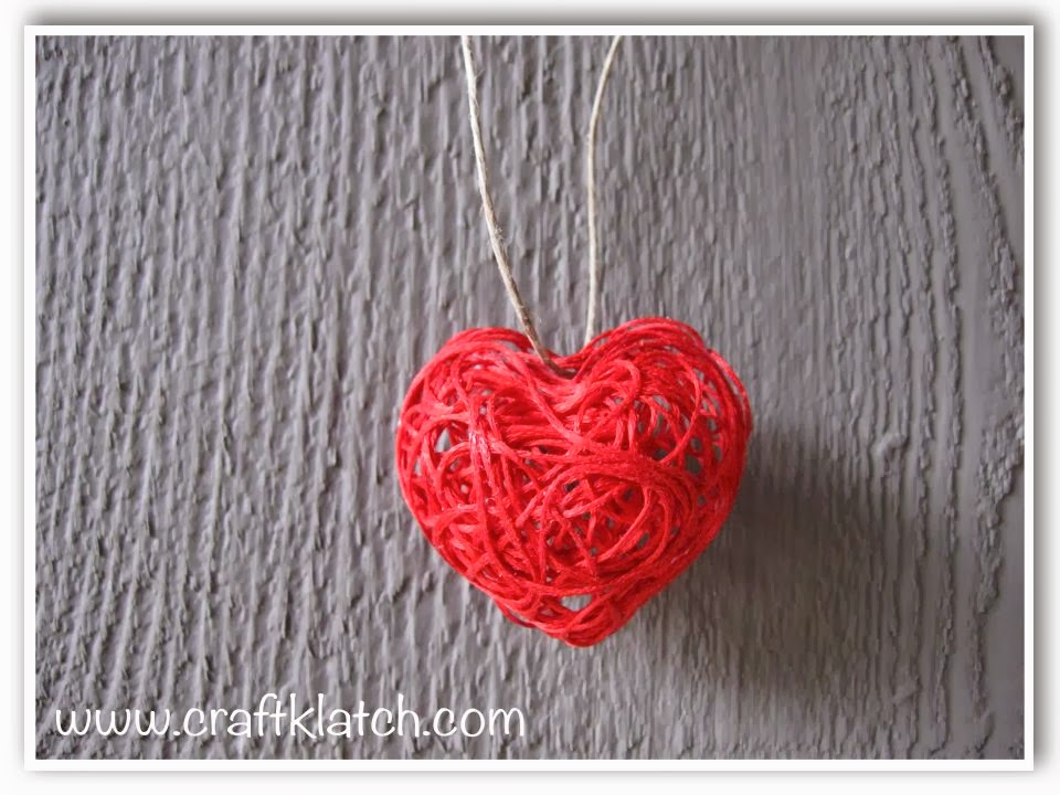 string heart for valentines day