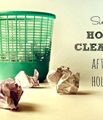 simple house cleaning after holidays
