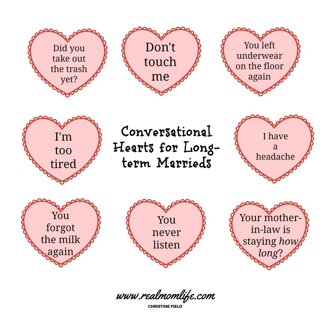 Conversational hearts for long term marrieds