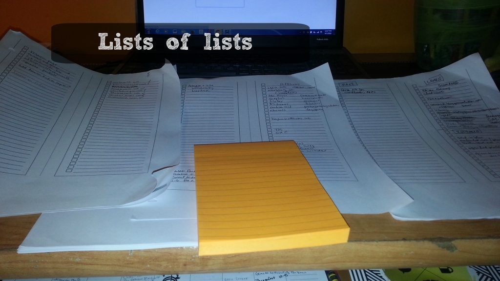 lists of lists