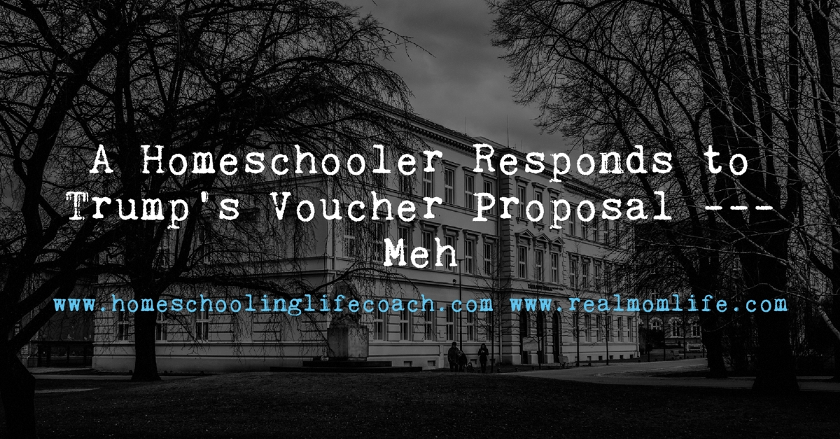 A Homeschooler Responds to Trump's Voucher Proposal – Meh