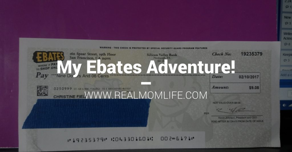 My Ebates Adventure!