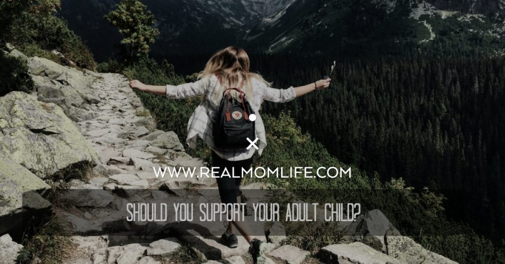 Should you support your adult child?