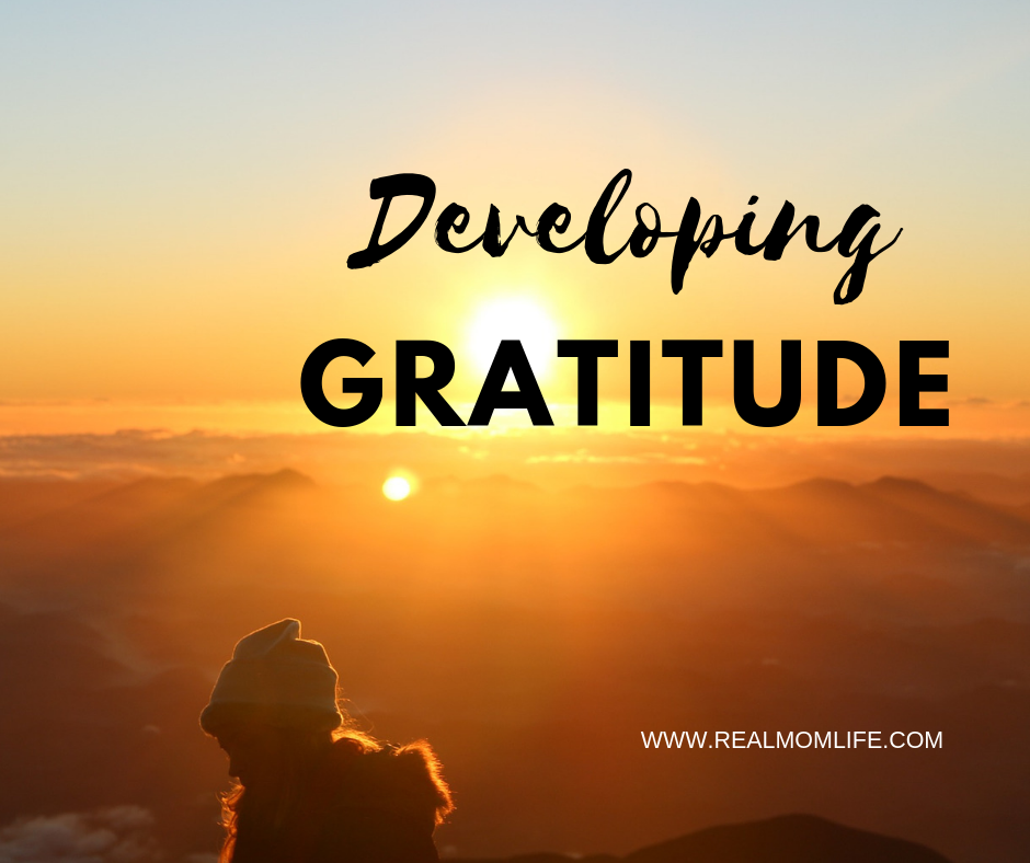 DEVELOPING GRATITUDE